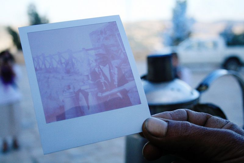 Ajloun castle polaroid