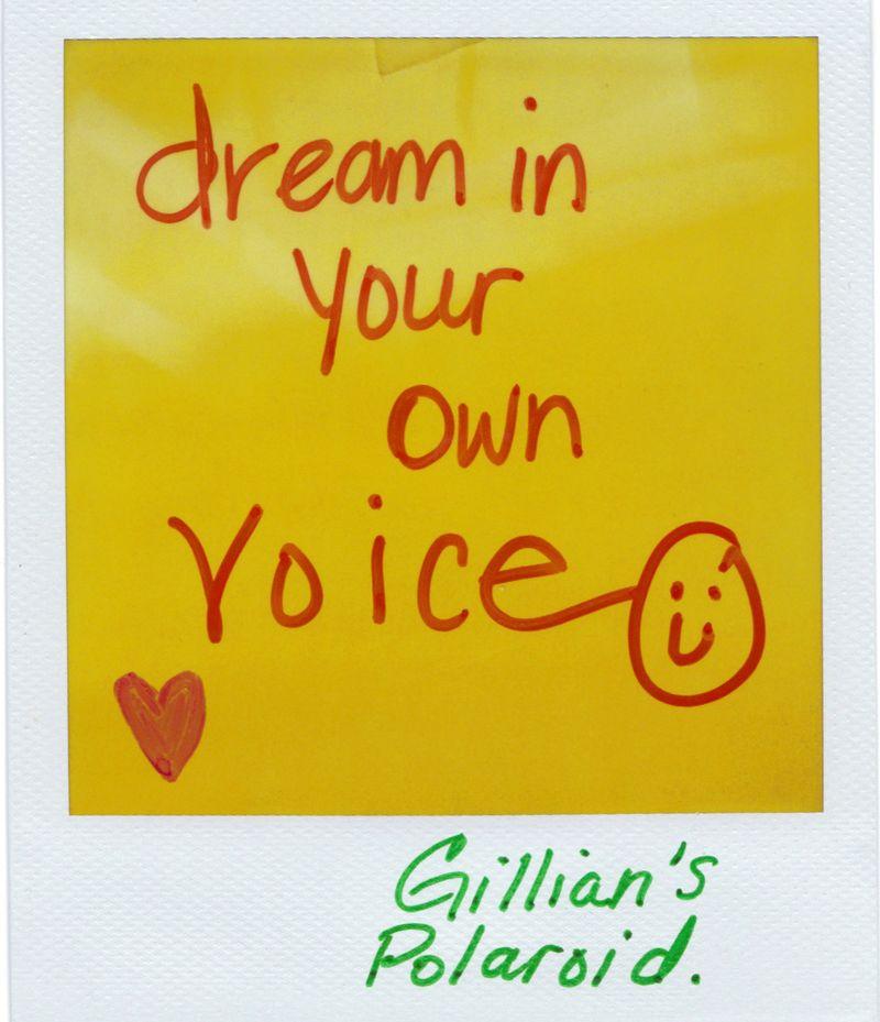Gillian's polaroid