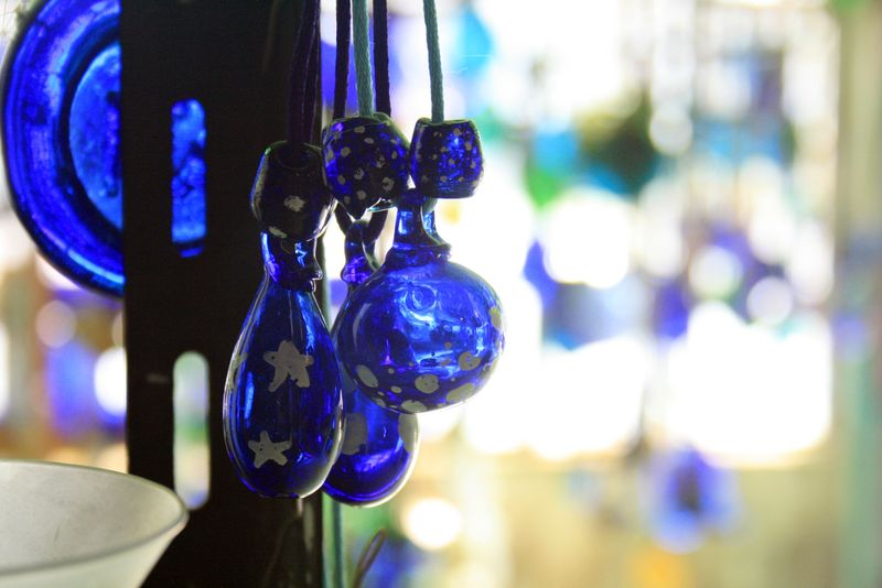 Stunning handmade glass ornaments